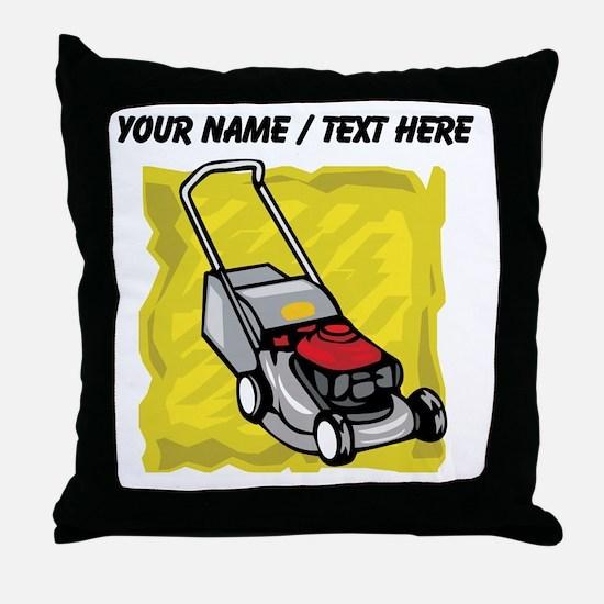 Custom Lawnmower Throw Pillow