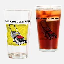 Custom Lawnmower Drinking Glass