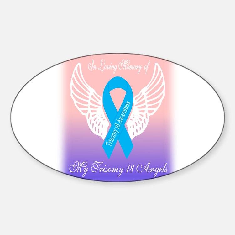 Trisomy 18 Angels Decal