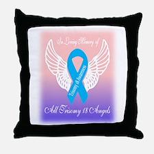 Trisomy 18 angels Throw Pillow