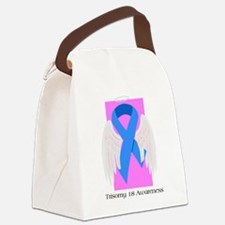girl ribbon.png Canvas Lunch Bag
