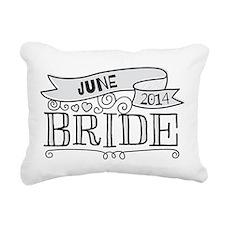 Bride 2014 June Rectangular Canvas Pillow