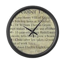 October 15th Large Wall Clock
