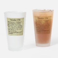 October 15th Drinking Glass