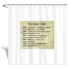 October 14th Shower Curtain