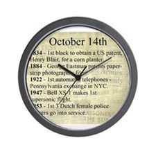 October 14th Wall Clock