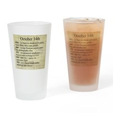 October 14th Drinking Glass
