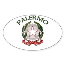 Palermo, Italy Oval Decal