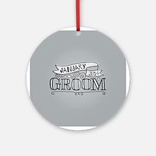 Groom 2014 January Ornament (Round)