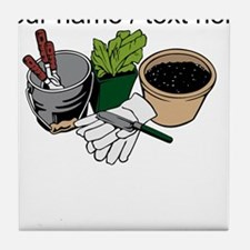 Custom Gardening Tools Tile Coaster