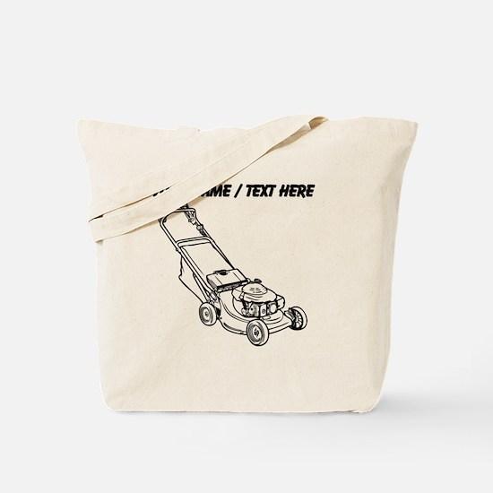 Custom Push Lawnmower Tote Bag