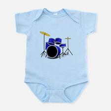 Blue Drum Set Body Suit