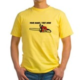 Chainsaw Mens Yellow T-shirts