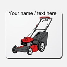 Custom Red Lawnmower Mousepad