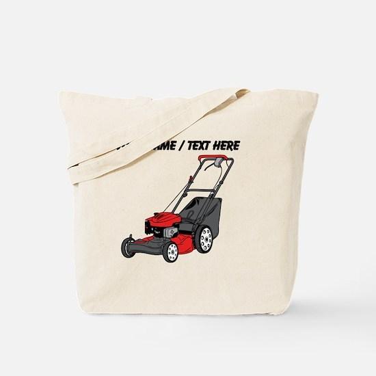 Custom Red Lawnmower Tote Bag