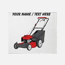 Custom Red Lawnmower Throw Blanket