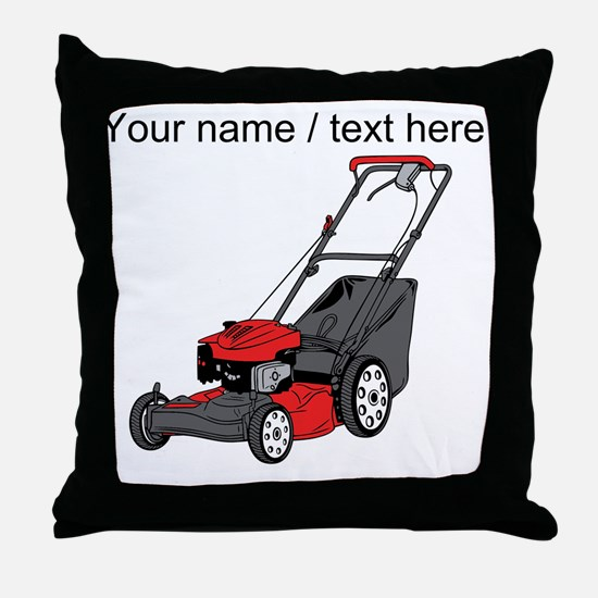 Custom Red Lawnmower Throw Pillow