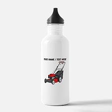 Custom Red Lawnmower Water Bottle