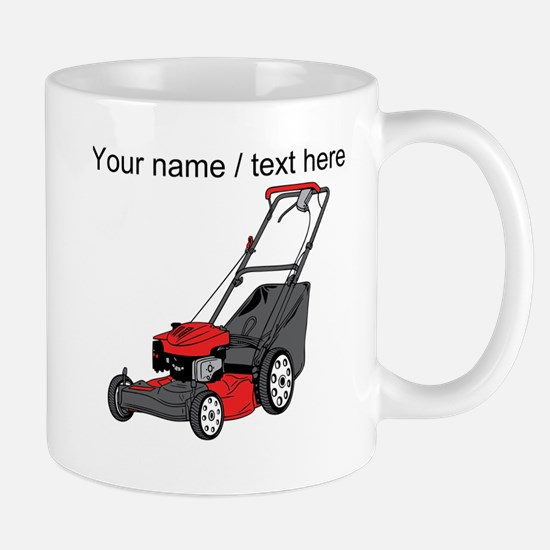 Custom Red Lawnmower Mugs