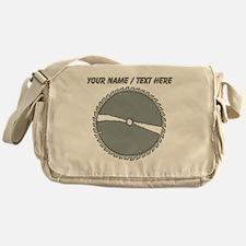 Custom Circular Saw Blade Messenger Bag