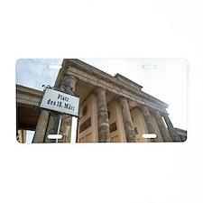 platz des 18 marz sign Aluminum License Plate