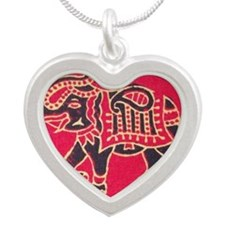 The Great Indian Elephant Silver Heart Necklace