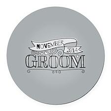 Groom 2014 November Round Car Magnet