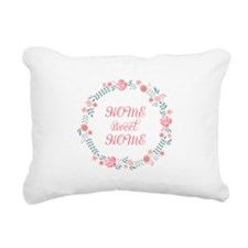 Home sweet home, floral laurel wreath Rectangular