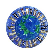 Corgi Nation  Round Ornament