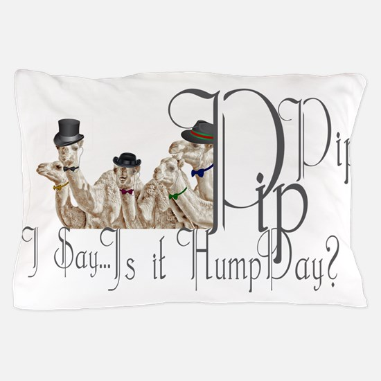 Top Hat Monocle Camels for Humpday Pillow Case