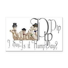 Top Hat Monocle Camels for Hu Rectangle Car Magnet