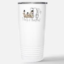 Top Hat Monocle Camels  Travel Mug
