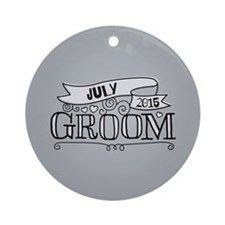 Groom 2015 July Ornament (Round)