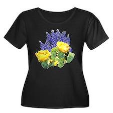 CACTUS FLOWERS AND BLUEBONNET T