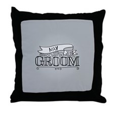 Groom 2015 May Throw Pillow