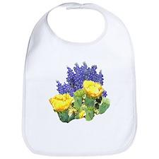 CACTUS FLOWERS AND BLUEBONNET Bib