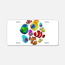 Tropical Fishes Pattern Aluminum License Plate