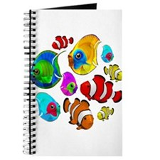 Tropical Fishes Pattern Journal