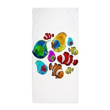 Tropical Fishes Pattern Beach Towel