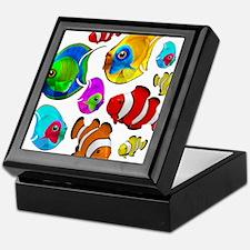 Tropical Fishes Pattern Keepsake Box