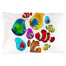 Tropical Fishes Pattern Pillow Case