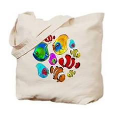 Tropical Fishes Pattern Tote Bag