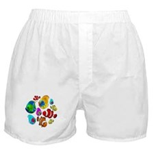 Tropical Fishes Pattern Boxer Shorts