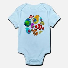 Tropical Fishes Pattern Body Suit
