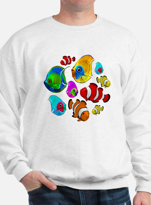 Tropical Fishes Pattern Sweatshirt