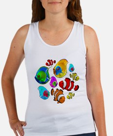 Tropical Fishes Pattern Tank Top