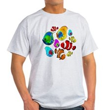 Tropical Fishes Pattern T-Shirt