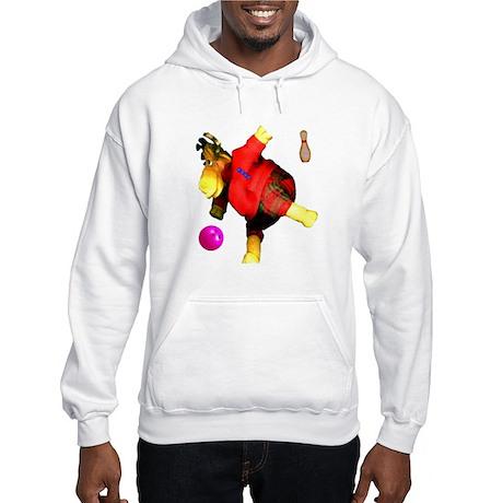 Bowling Moose Hooded Sweatshirt