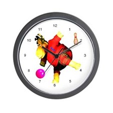 Bowling Moose  Wall Clock