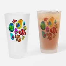 Tropical Fishes Pattern Drinking Glass